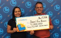 Father-daughter team win $1,000,000 Lottery prize!