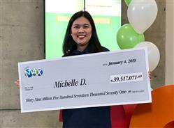 Mother of 3 claims almost $40 million with Canada Lotto!