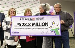 Tennessee couple claim $528.8 million of $1.6 billion Powerball jackpot!