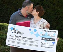 UK Couple Finish Painting, before claiming £32.5M Lottery Prize!