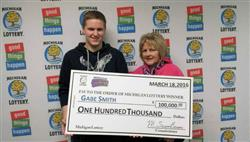 Michigan teen uses Lottery Prize to pay off Mom's Home!