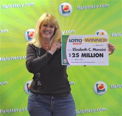 FLORIDA LOTTO winner Elizabeth Manzini photo