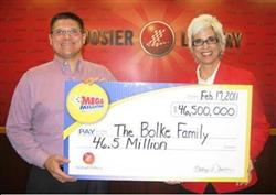 February 1st Mega Millions winner photo-Jimmy McClelland