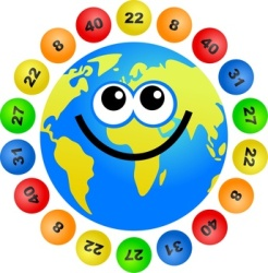 Lottery balls around the globe- image