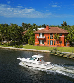 Powerball Winning- Luxury house and yacht image