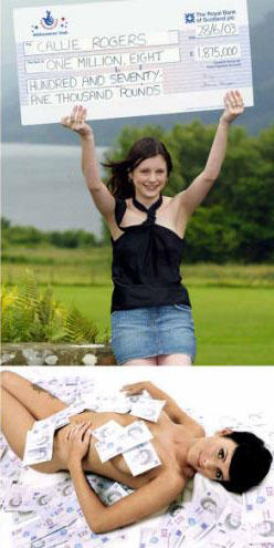 Callie Rogers youngest uk lottery winner